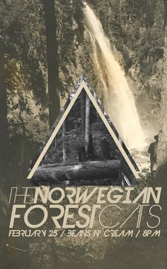 Garrett DeRossett | Work #ohio #print #design #typography #cats #poster #triangles #midwest #forest #green