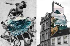 Vintage Photo-Collages Featuring Natural Elements – Fubiz™ #collage