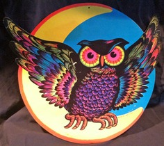 Vintage Beistle Halloween decoration - Angry Owl