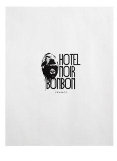 Hotel Noir BonBon : TACN Studio #logotype #canada #vancouver #graphic #black #identity #gorilla #hotel #logo