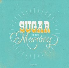 Sugar Type #radio #cash #texture #johnny #typography