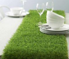 Artificial Grass Table Runner #gadget #home