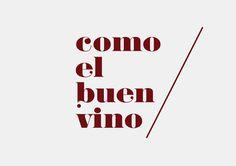 """Como el buen vino"" brand #logotype #design #wood #brand #studio #logo"