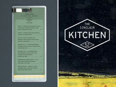 The Sinclair on Behance #menu #identity #food #restaurant