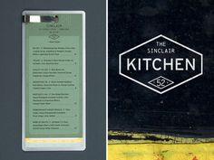 Nice Clip #menu #identity #food #restaurant