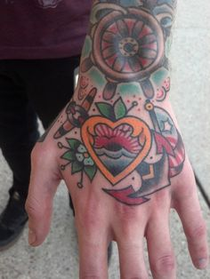 I had this done at the Louisiana Voodoo Tattoo Expo, the artist is Corey Goyette from Inflicting Ink, located in Portsmouth, Rhode Island #tattoo #hand