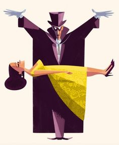 Jonas Bergstrand #illustration #magician