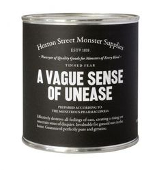 Monster Supplies | Verybadfrog.com #unease #hoxton #supply #street #monster #cans
