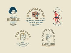 Logo Templates #logo #vintage #hipster #caferacer #tiger #devil #tattoo #ink #templates