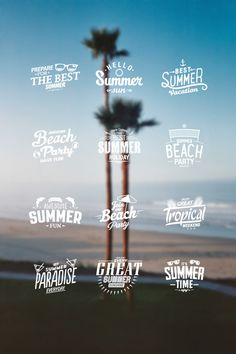 Summer Stamp on Behance #stamp #design #graphic #icons #summer