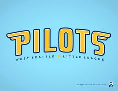 West Seattle Little League - danlustig.com #seattle #pilots #sports #baseball #logo #typography