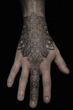 Impressive stippling tattoos by Kenji Alucky #tattoo #geometry #ink #hands #pointillism