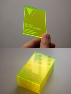 YAA #acrylic #cut #business #card #laser #personal