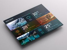 Weather Dashboard // Global Outlook UI/UX on Behance #flat #pattern #weather #map #ui #clean #dashboard #photoshop #app #gradient