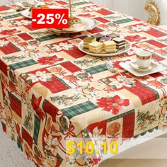 Christmas #Party #Decoration #Fabric #Printing #Tablecloth #- #MULTI-A