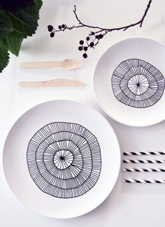 talerz_diy1.jpg (570×787) #diy #porcelain #plate