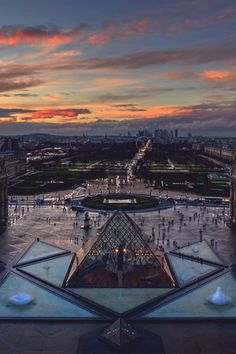 Paris From Louvre @ Sunset #paris #photograph #architecture #art #louvre #sunset