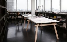 jakob timpe  spaces + objects #interior #workplace #design #furniture #table