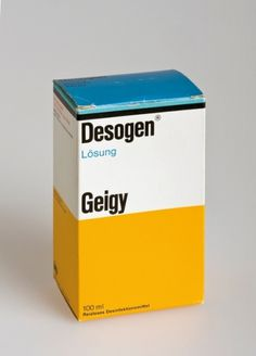 Merde! - bigandstrong: Geigy medication, 1960's Design... #geigy #design #package