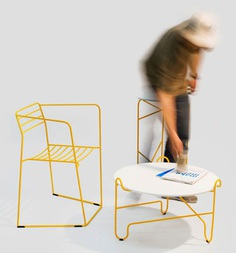 Bent Steel Furniture by Zbigniew Strzebonski - Design Milk