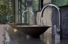 Bathroom Furniture Ideas   Modern bathroom sinks and  fittings
