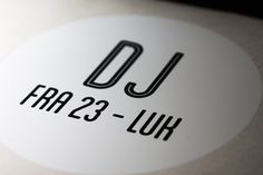 Dj logo, poster design by www.onad.dk #minimalistic #design #dj #minimal #logo