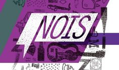 N.O.I.S. - Network of Open Instrument Studios #stamps #color #texture #identity #nois #music #logo