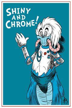 Shiny and Chrome! by DrFaustusAU #illustration