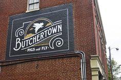#typography #signage #brick #painted #custom