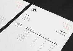 "Jonathan Shackleton   |   http://jshackleton.co.uk ""Personal identity and self promotion consisting of a simple, structured logo and v #invoice #branding #business #print #identity #collateral #logo #paper"