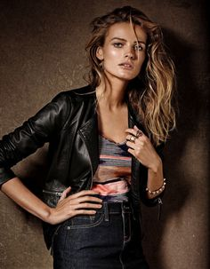 Edita Vilkeviciute by Giampaolo Sgura forLucky Brand's Fall Campaign #fashion #model #photography #girl