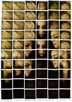 Polaroid Mosaics by Maurizio Galimberti | PICDIT #art #photography #photo #mosaic #photos