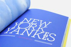 Photo book NYC — Florida on Behance #photo #typography #design #graphic #book #yankees #nyc #york #blue #new