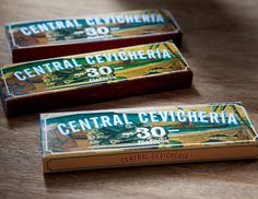 Central Cevicheria Match Box — The Dieline