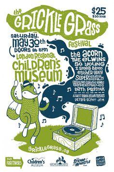Dancing Fox Grickle Grass Festival Poster