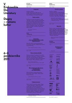 V krakowskie dni literatury : portfolio