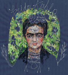 frida, stitch, art