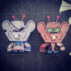 Biker Mice From Mars – Papertoy #inspiration #character