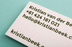 mildred & duck — kristian van der beek #businesscard #letterpress #design