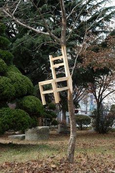 I need a guide: myeongbeom kim #tree #installation #chair #kim #myeongbeom