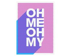 OH ME OH MY print by James Joyce. - #print #poster #typography