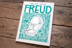 Freud's Life and Legacy, in a Comic | Brain Pickings #freud #book #cover #comic #illustration