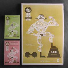 Letterpress Tattoo Posters | Paper Crave #tatto #letterpress #poster
