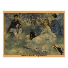 La Famille Henriot by Auguste Renoir Poster