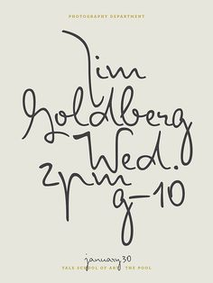 Jessica Svendsen #calligraphy #design #graphic #poster #type