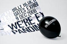 Ex–pand – Magdalena Czarnecki #balloon #blackwhite #minimal #typography