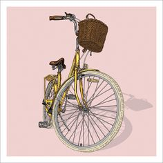 Bicycle Illustration Trilogy - 03 - Lady by Studio Epitaph http://www.studioepitaph.com/work#/bicycle-illustrations/