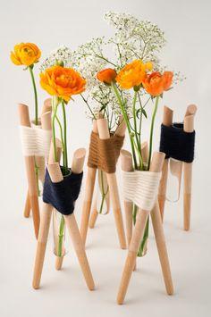 Forget Me Not Vases by Aurélie Richard Photo
