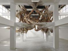 henrique oliveira: baitogogo at palais de tokyo, paris #wood #sculpture