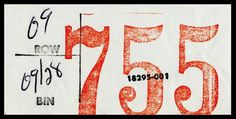 755 150 #stamp #lettering #numerals #card #collateral #condensed